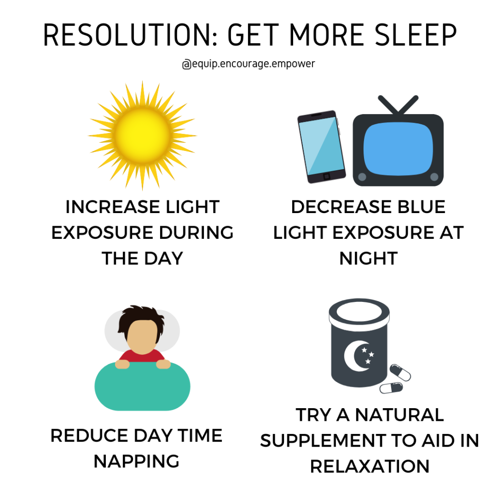 new year resolution get more sleep