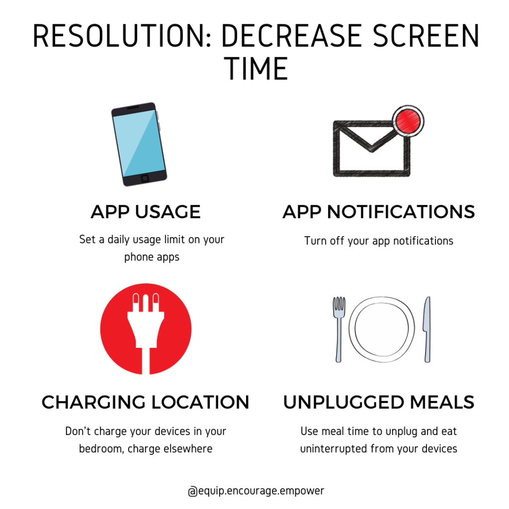 Practical tips you can use to decrease screen time.
